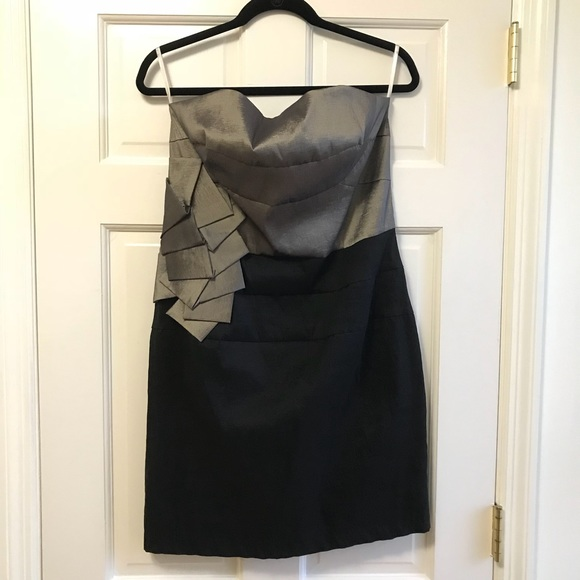 Jessica McClintock Strapless Black Cocktail Dress